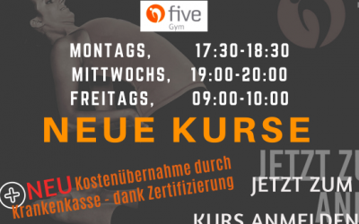 Neue Kurse: Five-GYM